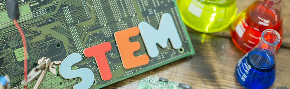 Image of a circuit board at the top of the Education Outreach Programs page