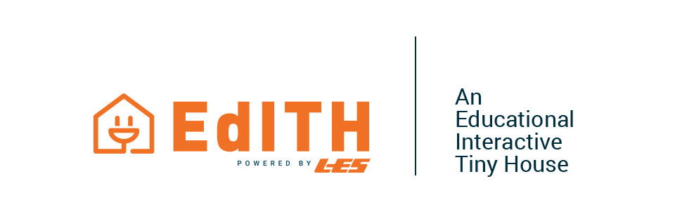 Graphic of LES' educational, interactive tiny house (EdITH) logo